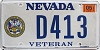 2012 Nevada Army Veteran # D413
