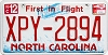 2012 North Carolina First In Flight # XPY-2894
