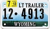 2013 Wyoming Light Trailer # 4913, Lincoln County