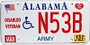 2013 Alabama Army Disabled Veteran graphic # N53B
