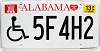 2013 Alabama Disabled # 5F4H2