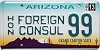 2013 Arizona Honorary Foreign Consul # 99, Type 1