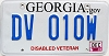 2013 Georgia Disabled Veteran # DV 010W