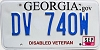 2013 Georgia Disabled Veteran # DV 740W