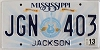 2013 Mississippi Guitar graphic # JGN-403