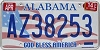 2014 Alabama God Bless America # AZ38253