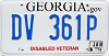 2014 Georgia Disabled Veteran # DV 361P