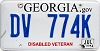 2014 Georgia Disabled Veteran # DV 774K