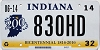 2014 Indiana Bicentennial graphic # 830HD
