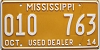 2014 Mississippi Used Dealer # 010 763