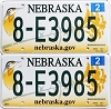 2014 Nebraska graphic pair # 8-E3985, Hall County