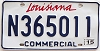 2015 Louisiana Commercial # N365011