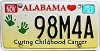 2015 Alabama Curing Childhood Cancer # 98M4A