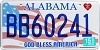2015 Alabama God Bless America # BB60241