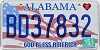 2015 Alabama God Bless America # BD37832