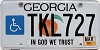 2015 Georgia Disabled # TKL727