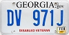 2015 Georgia Disabled Veteran # DV 971J