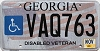 2015 Georgia Disabled Veteran # VAQ763