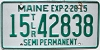 2015 Maine Permanent Semi Trailer # 15-42838