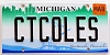2015 Michigan Splendor Vanity graphic # CTCOLES