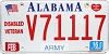 2016 Alabama Army Disabled Veteran graphic # V71117