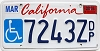 2016 California Disabled graphic # 7243Z