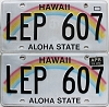 2016 Hawaii Rainbow pair # LEP-607