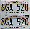 2016 Hawaii Rainbow pair # SGA-520