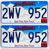 2016 South Dakota graphic pair # 2WV-952