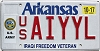 2017 Arkansas US Army Iraqi Freedom Veteran # AIYYL