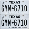 2017 Texas pair #GYW-6710