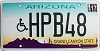 2017 Arizona disabled graphic # HPB48