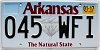 2017 Arkansas Diamond graphic # 045-WFI