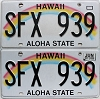 2017 Hawaii Rainbow pair # SFX-939