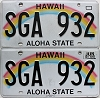 2017 Hawaii Rainbow pair # SGA-932