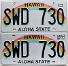 2017 Hawaii Rainbow pair # SWD-730