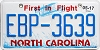 2017 North Carolina First In Flight # EBP-3639