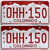 2018 Colorado Fleet graphic pair # OHH-150