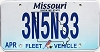 2018 Missouri Fleet Vehicle graphic # 3N5N33
