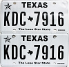 2018 Texas pair # KDC-7916