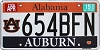 2019 Alabama Auburn University graphic # 654BFN