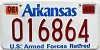 2019 Arkansas US Armed Forces Retired #016864