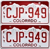 2019 Colorado Fleet graphic pair # CJP-949