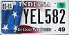 2019 Indiana In God We Trust graphic #YEL-582