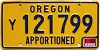 2019 Oregon Apportioned #y121799