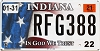 2021 Indiana In God We Trust #RFG388