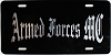 Armed Forces Motorcycle Club front booster license plate