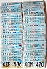 Bulk Lot of 100 Kansas Capital graphic license plates