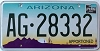 ARIZONA APPORTIONED Cactus graphic license plate # AG-28332