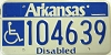 Arkansas Disabled graphic # 104639